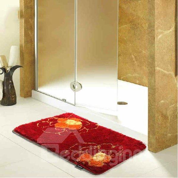 Elegant Bathroom Rug Sets: Fashion Elegant Jacquard Pattern Soft Bath Rug