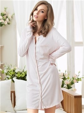Comfy And Attractive Button Front Sleepshirt