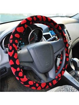 Stylish Colorful Leopard Pattern Ultra Comfortable Steering Wheel Cover