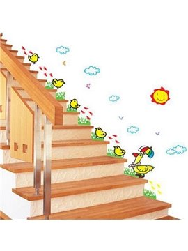 Wonderful Luminous Cute Chicks Wall Stickers for Kidsroom Playroom Kindergarten