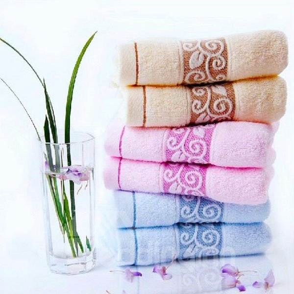 Full Cotton Thick Soft Jacquard Pattern Towel