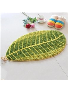 Super Soft Unique Leaf Shape Anti-slip Bath Rug