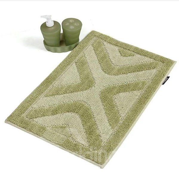 Super Soft Green Rectangular Anti-slip Bath Rug