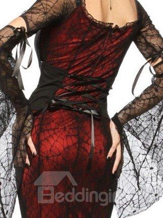 Sexy Sheer Elastic Fabric Bat Sleeves Costume