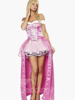 Sweet Cinderella Strap Front Off Shoulder Dress Costume