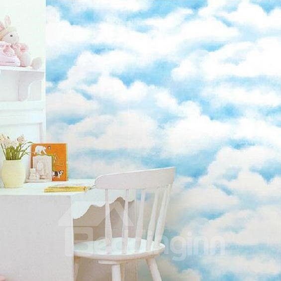 Blue Sky and White Clouds Wall Sticker for Children