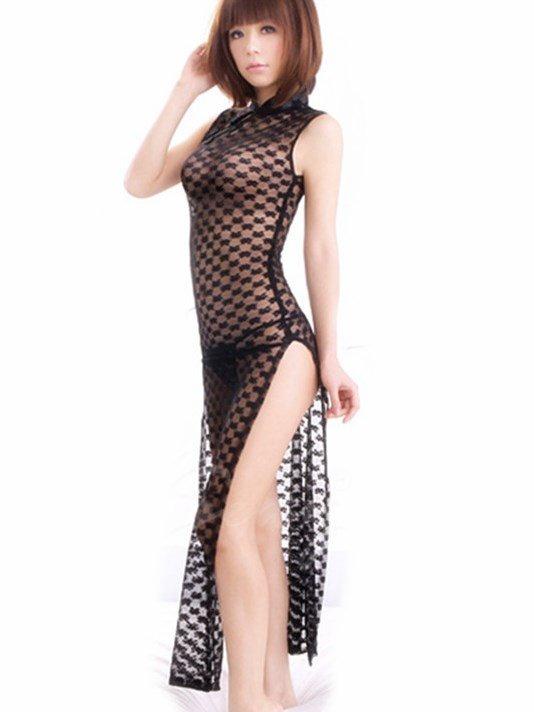 Sexy Open Sides Beautiful Long Qipao Costume