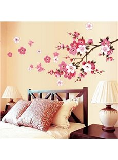 Beautiful Romantic Peach Wall Stickers for Home Decoration