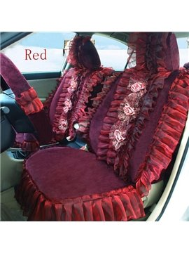 Row of Lace Flowers Pattern Ultra Comfortable Car Seat Cover