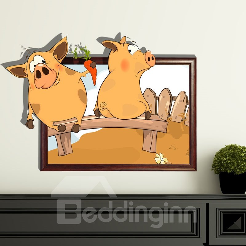 New Style Wonderful Lovely Pig 3D Wall Sticker 11246120