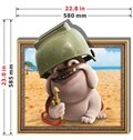 Top Selling Staying Adorable Dog 3D Wall Sticker