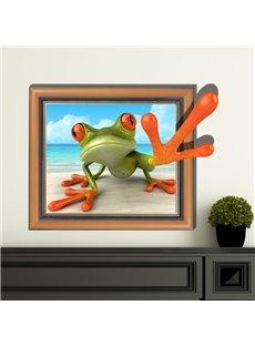 Wonderful Creative Frog Pattern 3D Wall Sticker