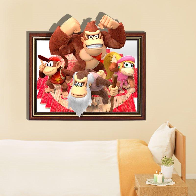 New Classic Orangutan Family 3D Wall Sticker