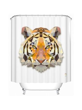 Chic 3D Prismatic Tiger Polyester Shower Curtain