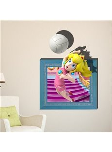 New Style Fantastic Volleyball Girl 3D Wall Sticker