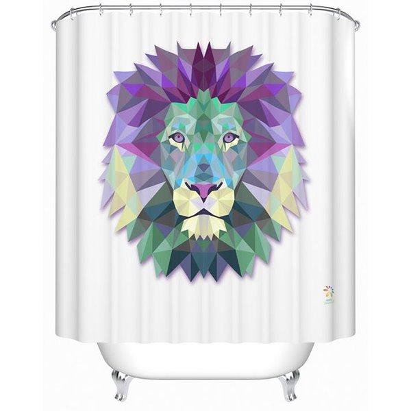 Fabulous Creative 3D Prismatic Lion Print Shower Curtain