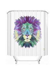 Fabulous Creative 3D Prismatic Lion Print Shower Curtain