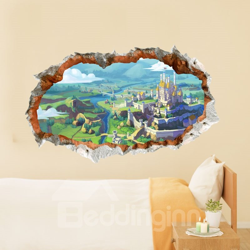New Classic Wonderful Castle Vision  3D Wall Sticker