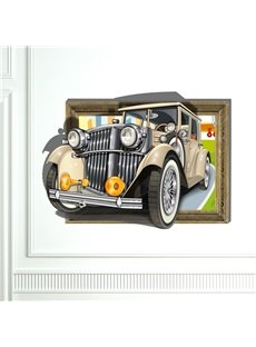 Top Quality Wonderful Retro Vintage Car 3D Wall Sticker