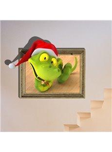 New Classic Wonderful Christmas Snake 3D Wall Sticker