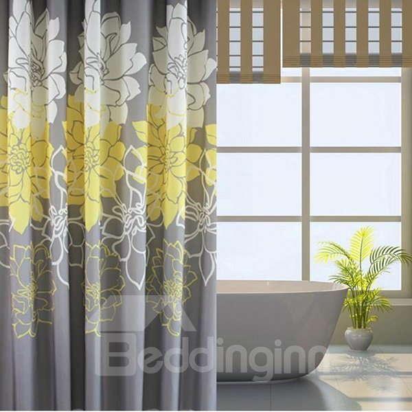Top Class Noble Peony Jacquard Shower Curtain