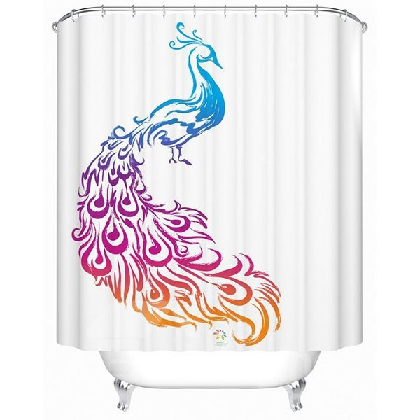 Top Selling Phoenix Print Polyester Shower Curtain