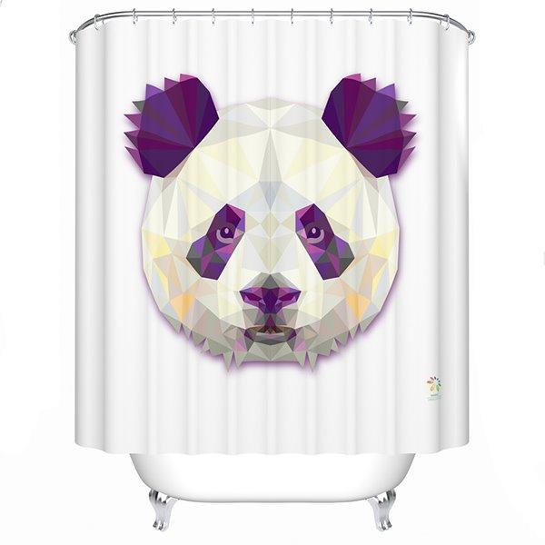 Vivid Gorgeous Panda Print 3D Prismatic Shower Curtain