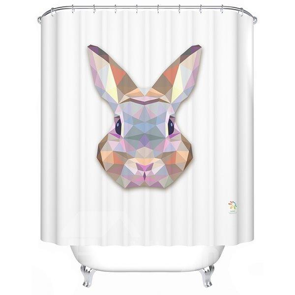 Adorable Fancy 3D Prismatic Bunny Shower Curtain