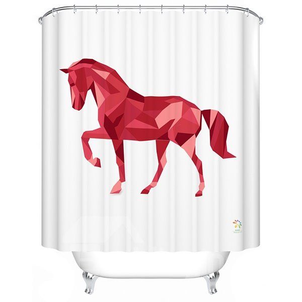Vibrant Attractive 3D Prismatic Horse Shower Curtain