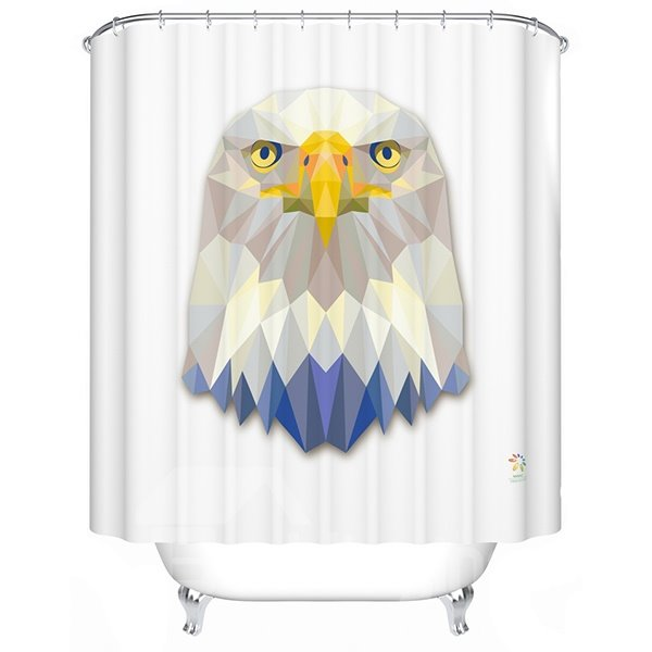 Intrepid Vibrant 3D Prismatic Eagle Shower Curtain