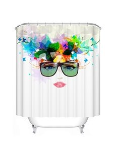 Attractive Artistic Cool Girl Polyester Shower Curtain