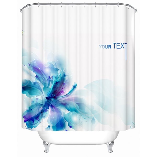 Dreamlike Artistic Blue Blooming Lily  Shower Curtain