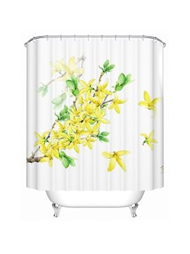 Gorgeous Blooming Jasminum Nudiflorum Print Shower Curtain