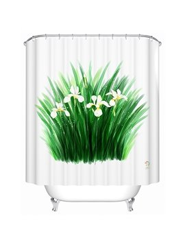 Graceful Wonderful Orchid Print Polyester Shower Curtain