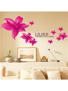 Beautiful Removable Light Love Lily Wall Stickers