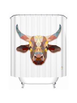 Unique 3D Prismatic Cattle Print Shower Curtain