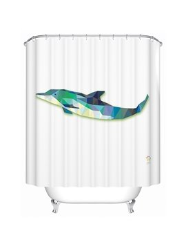 Adorable Amazing 3D Prismatic Dolphin Shower Curtain
