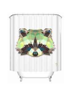 Funny Lifelike  3D Prismatic Raccoon Shower Curtain