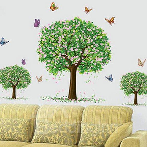Top Classic Wonderful Pretty FlowersTree Wall Stickers