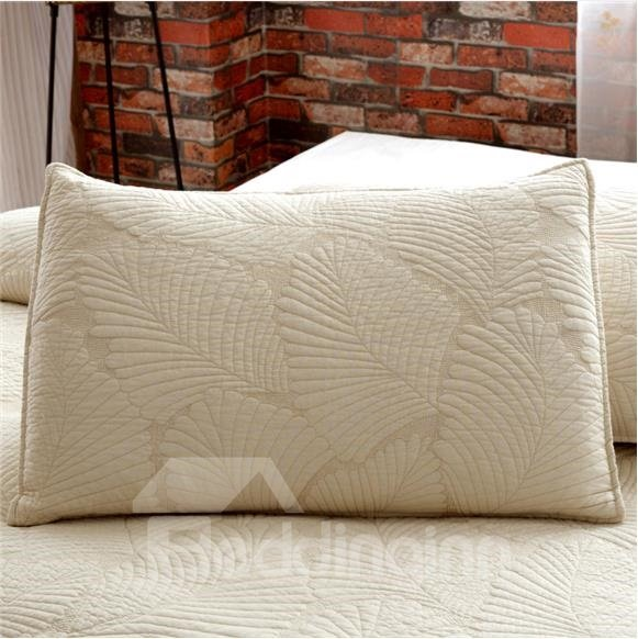 Comfortable and Soft Palm Leaves Printed 3-Piece Cotton Bed in a Bag