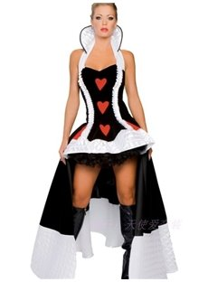 Fantastic Queen Of Heart Floor Dress Costume