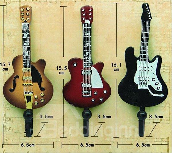 Unique Vintage Chic Guitar Shape 3-piece Hooks