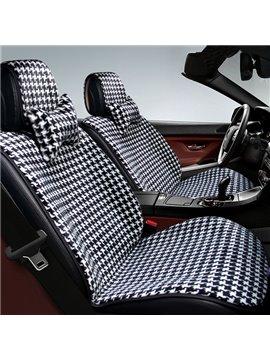 Classic Simple Grid Designed Comfortable Car Seat Cover
