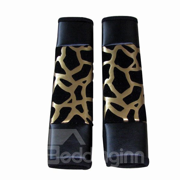 Leopard Printed One Pair Fashionable Seat Belt Covers