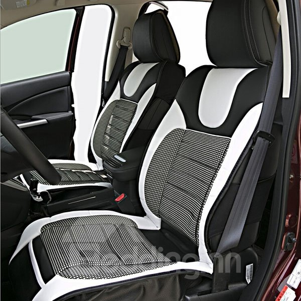 fashionable and classical black white and black red 5 piece car seat cover. Black Bedroom Furniture Sets. Home Design Ideas