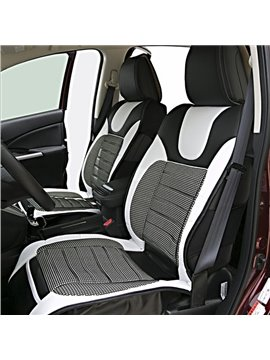 Fashionable and Classical Black-White and Black-Red 5-Piece Car Seat Cover