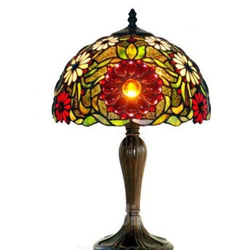 Wonderful Tiffany Decorative Sunflower Pattern Table Lamp
