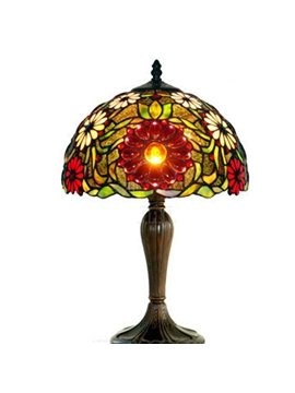 Wonderful Tiffany Table Lamp with Sunflower for Home Decoration