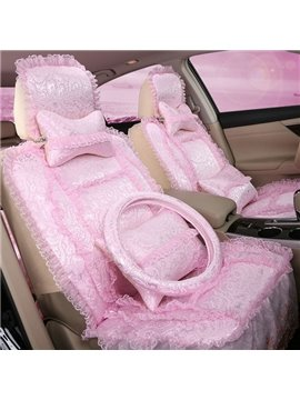 Unique Design Beautiful and Comfortable Lovely Lace 7-Piece Car Seat Cover