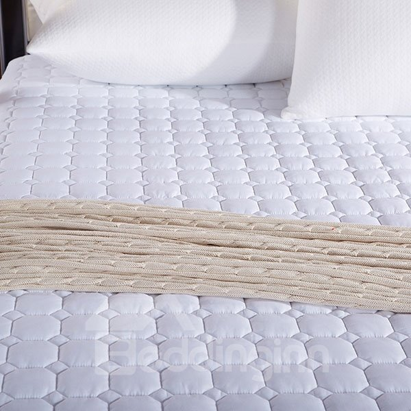 Extra Comfortable White Cotton Thickened Fitted Sheet